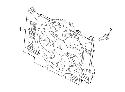 Cooling Fan For 2016 Jaguar Xf