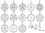 8-Spoke Wheel - Mercedes-Benz (212-401-18-02-9709)