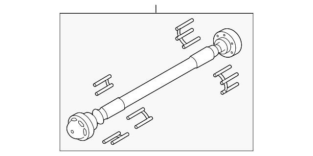 genuine ford drive shaft al3z