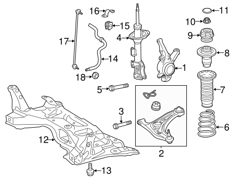 FRONT SUSPENSION/SUSPENSION COMPONENTS for 2012 Toyota Prius C #2