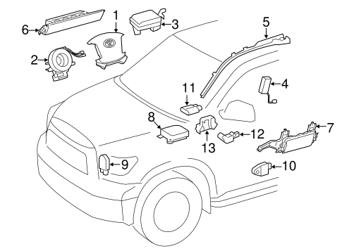 Air Bag Components for 2009 Toyota Tundra #0