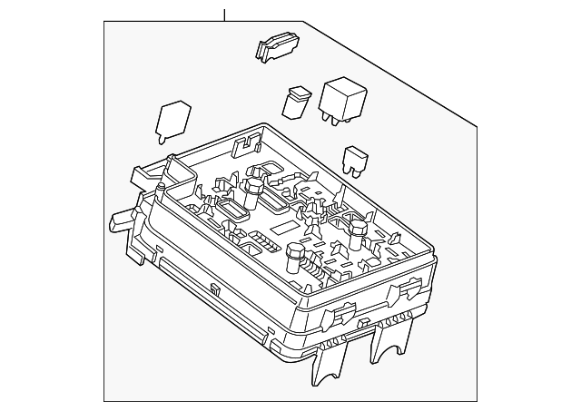 genuine oem fuse  u0026 relay box