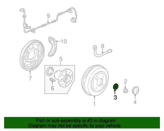 Washer, Hub Unit