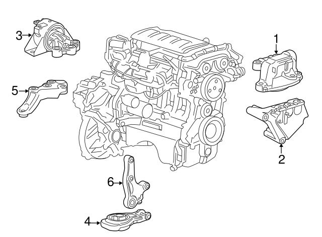 Genuine Chevrolet Sonic Motor Mount 95133816