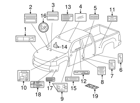 Chevrolet Oem Parts Schematic