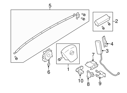 Air Bag Components For 2011 Nissan Murano