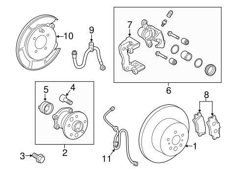 BRAKES/BRAKE COMPONENTS for 2010 Toyota Camry #1