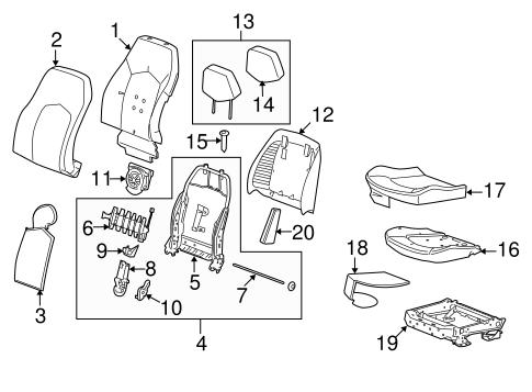 2008 Cadillac Cts Seat Diagram