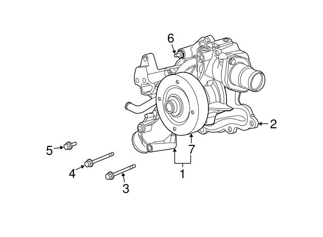 MOPAR 53021384AC Engine Water Pump Gasket