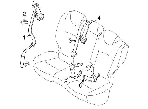 Rear Seat Belts For 2017 Infiniti Qx70