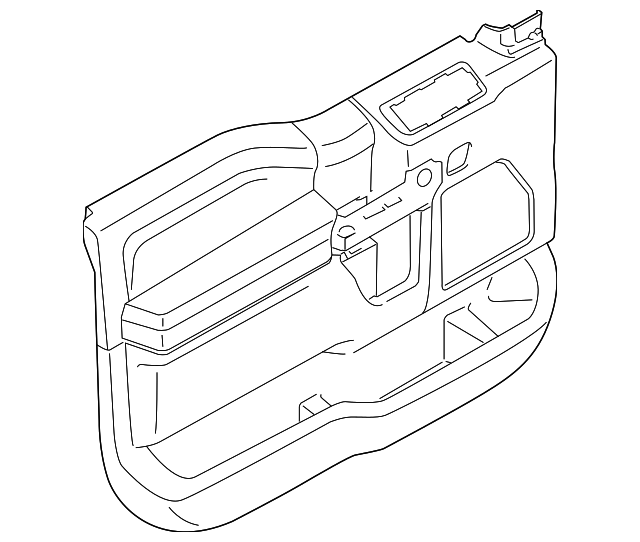 2017 Ford F 150 Door Trim Panel Hl3z 1823942 Ba