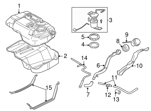 2005 Ford Escape Fuel System Diagram