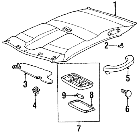 BODY/INTERIOR TRIM - ROOF for 1997 Toyota Tercel #2