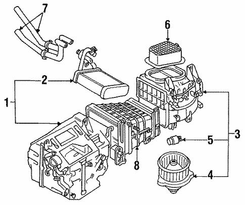 Blower Motor Fan For 1996 Mitsubishi 3000gt