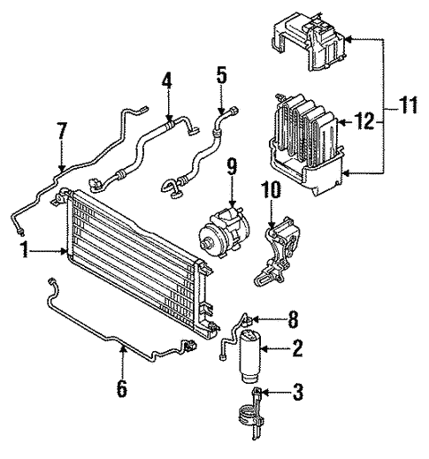 Evaporator Components For 1990 Toyota Pickup Toyota Parts