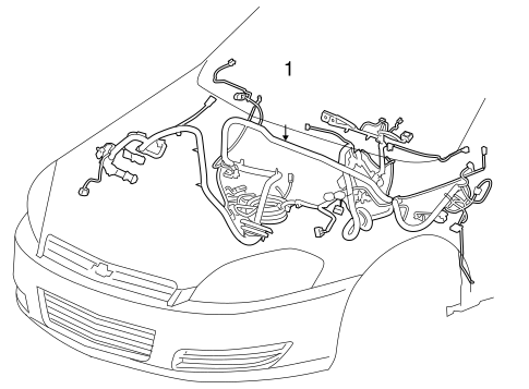 OEM 2007 Chevrolet Impala Wiring Harness Parts ...