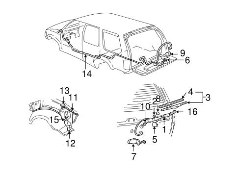 Rear Wiper Components For 1999 Oldsmobile Bravada Gm Parts Online
