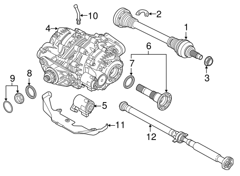 Axle Differential For 2017 Bmw X5