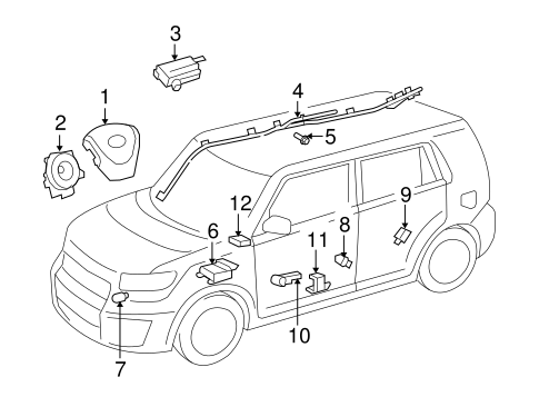 ELECTRICAL/AIR BAG COMPONENTS for 2014 Scion xB #1