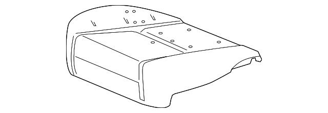 Chevrolet GM OEM 11-15 Camaro Driver Seat-Foam Cushion Back Pad Left 92230407