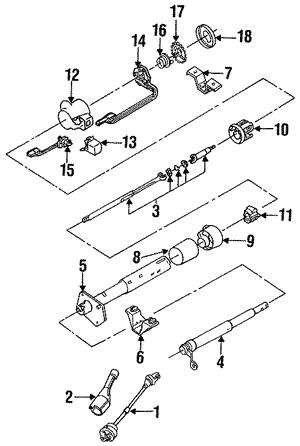 For 1992-1999 Chevrolet C1500 Suburban Horn 75973KZ 1993 1994 1995 1996 1997