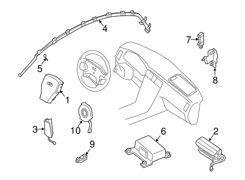Air Bag Components For 2006 Infiniti G35