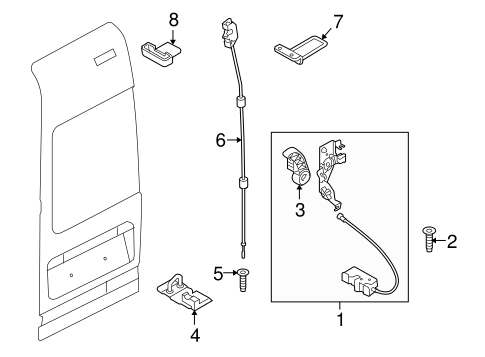 Body/Lock & Hardware for 2013 Ford Transit Connect #3