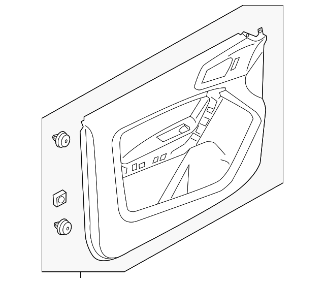 Genuine Ford Door Trim Panel CE8Z-5423943-BA