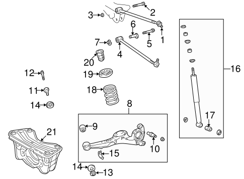 REAR SUSPENSION/REAR SUSPENSION for 1997 Toyota RAV4 #1