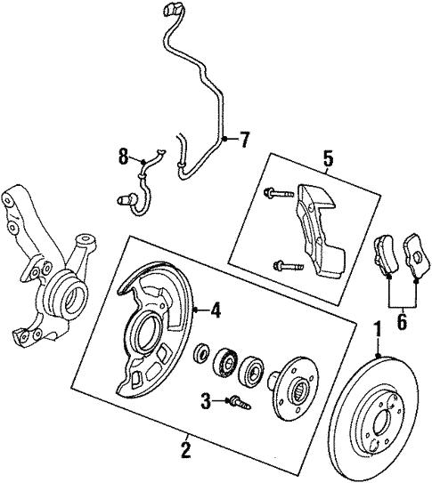 Brake Components For 2000 Chrysler Sebring