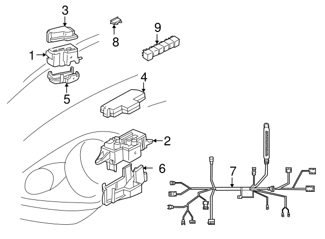 Toyota 85926-30020 Cooler Relay Assembly