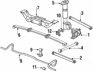 Rear Suspension For 1995 Pontiac Grand Prix Gmpartsnow