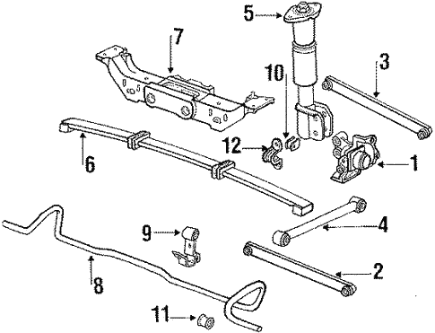 Rear Suspension for 1991 Pontiac Grand Prix #0