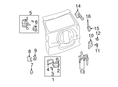 ELECTRICAL/BACK DOOR for 2004 Toyota RAV4 #1