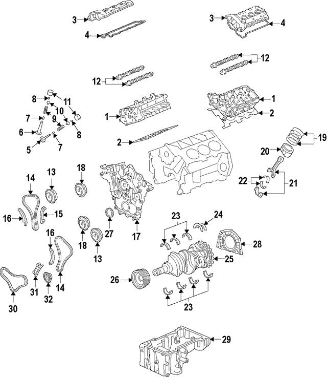 Genuine Kia Valve Cover Gasket 22453-3CGA2