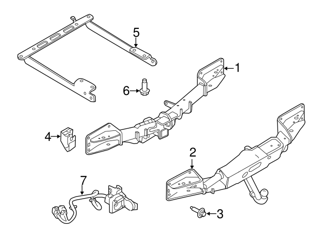2014 2018 Land Rover Range Rover Sport Wire Harness Lr054957