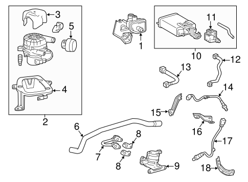 emission components for 2016 toyota tacoma