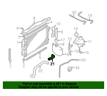 Radiator Coolant Hose - Jaguar (MJB4505BE)