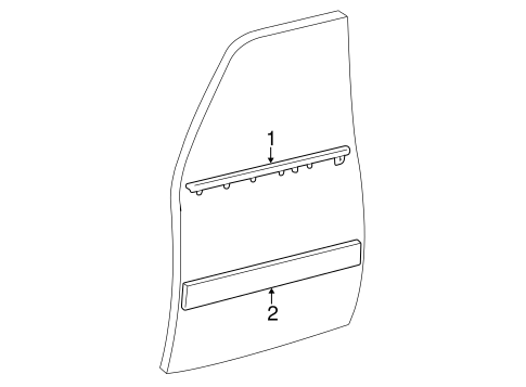 BODY/EXTERIOR TRIM - FRONT DOOR for 2001 Toyota Land Cruiser #1