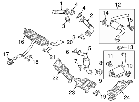 Exhaust Components For 2010 Volkswagen Touareg