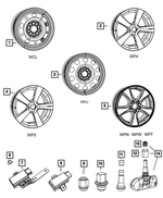 17in X 6.5in Plain Steel Wheel - Mopar (5105032AB)