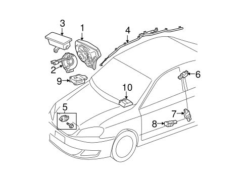 ELECTRICAL/AIR BAG COMPONENTS for 2005 Toyota Matrix #1