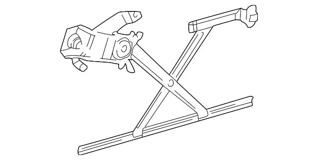 Window regulator mopar 55256315ae for 2001 dodge durango window off track