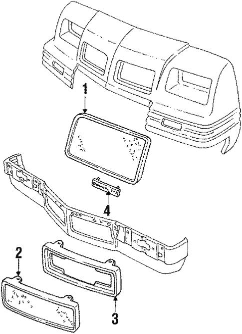 Oem 1987 Pontiac Grand Prix Grille Components Parts