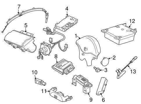 Air Bag Components For 2003 Jaguar S Type