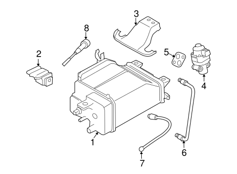 Emission Components For 2005 Subaru Baja