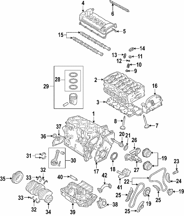 Engine Camshaft - Audi (022-109-102-A)