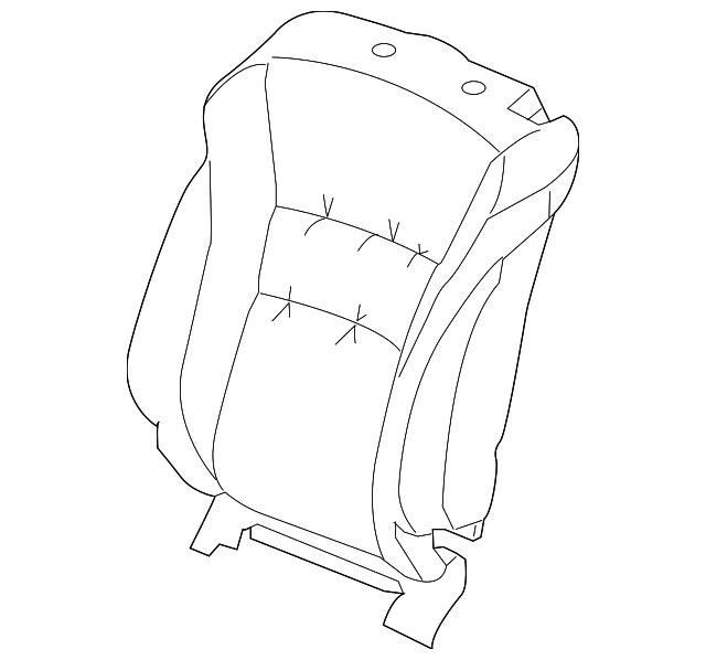 Honda Genuine 82131-T3L-A41ZB Seat Cushion Trim Cover Rear