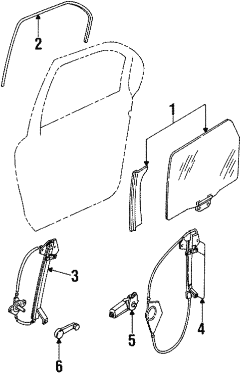 Body/Rear Door for 1997 Ford Contour #2