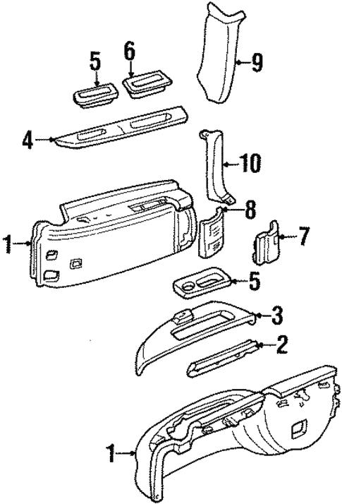 35 1999 Chevy Suburban Parts Diagram